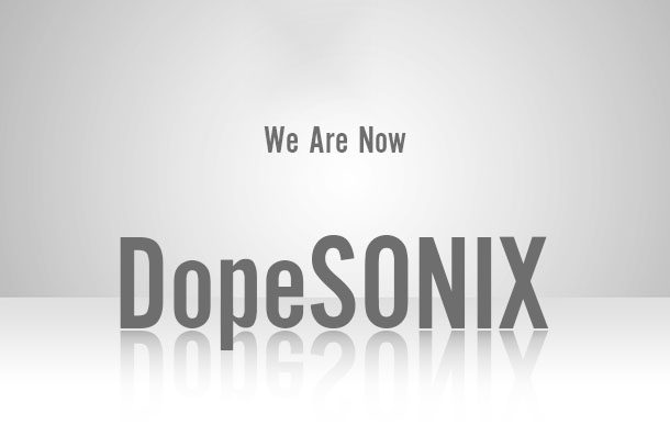 DopeVST name change to DopeSONIX - VST AU Plug-Ins DAW MIDI WAV