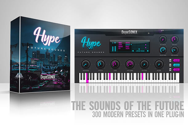 GUI and Box of HYPE VST plug in