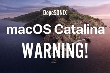 MAC OS Catalina Warning - VST AU AAX VSTi